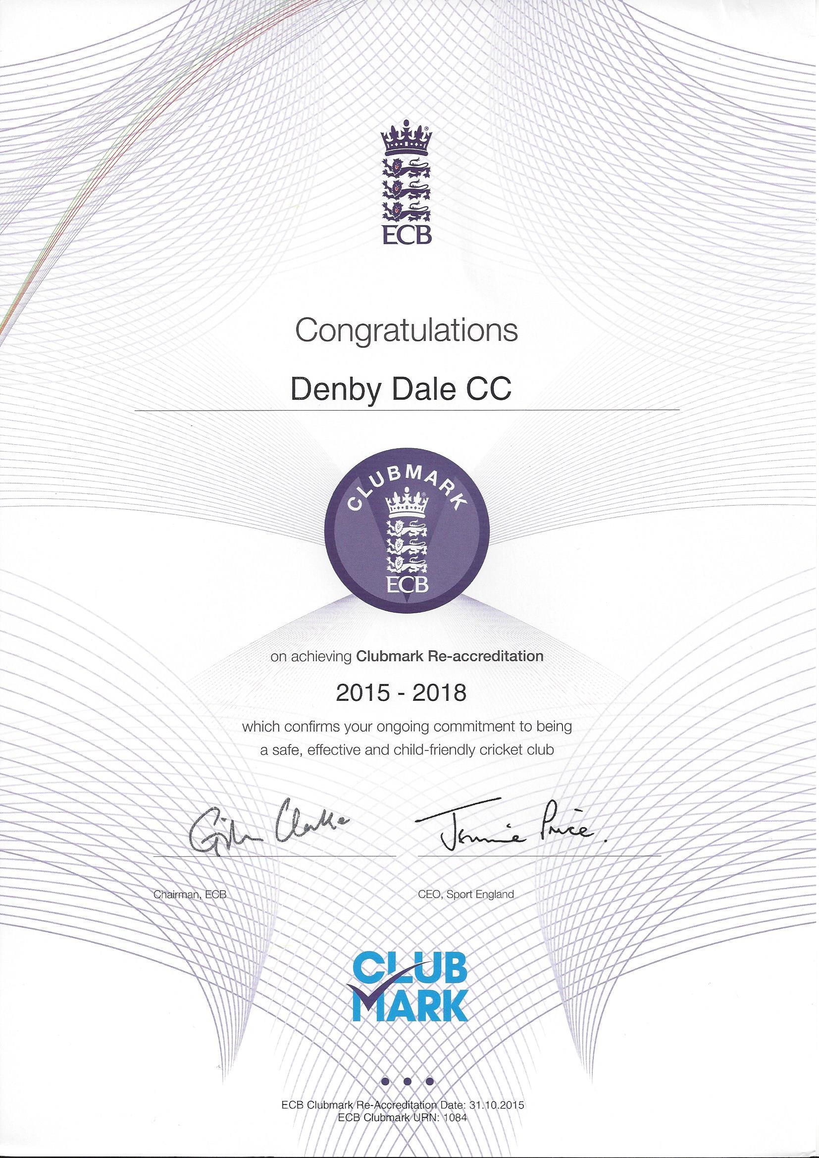 2016_Clubmark_Certificate