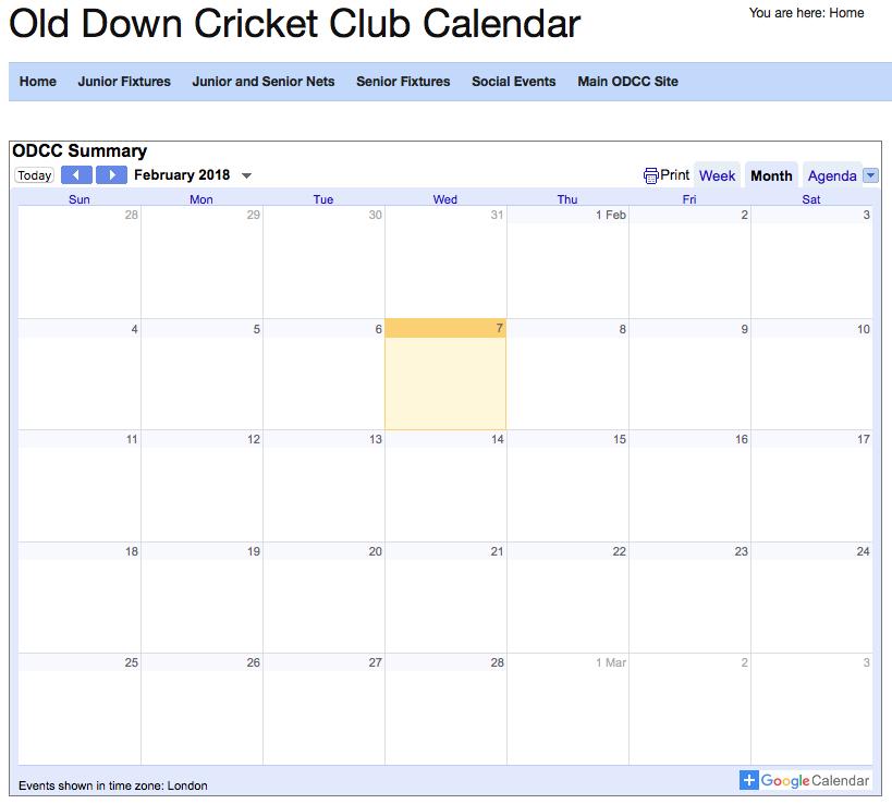 events calendar image