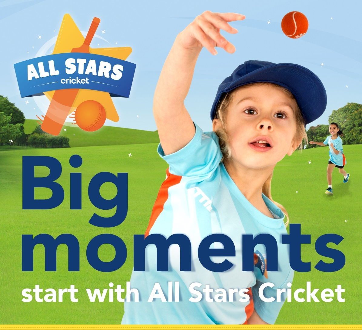 All Stars providing girls and boys from aged five to eight with a great first experience in cricket.
