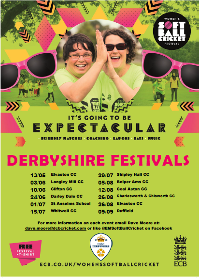 2018 Derbyshire Softball Festivals Poster