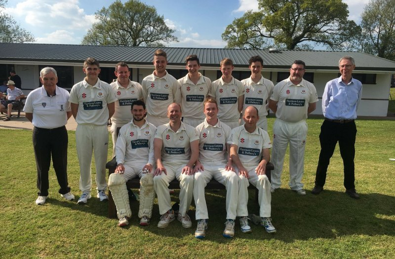 Sidmouth 2nds april 2018 team photo