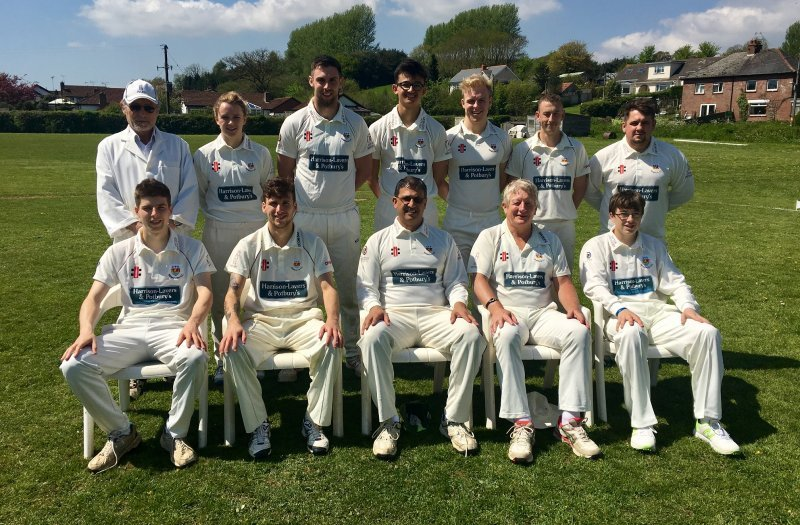 Sidmouth cc 3rds team photo april 2018