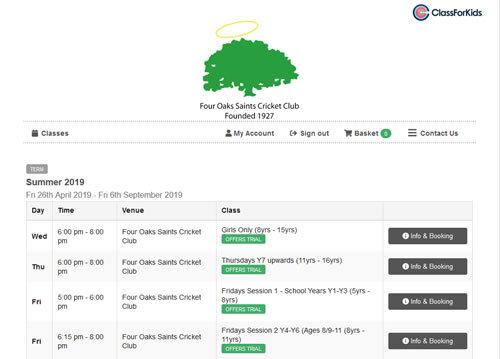 FOSCC Jnrs Online Booking