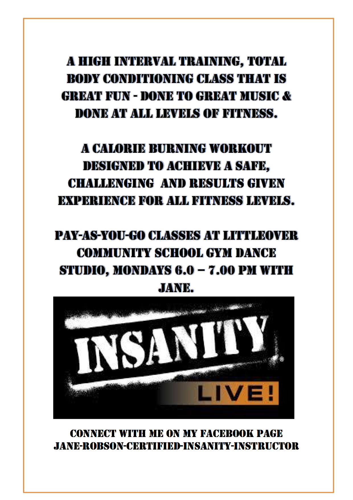 Jane Robson Certified Insanity Live Instructor